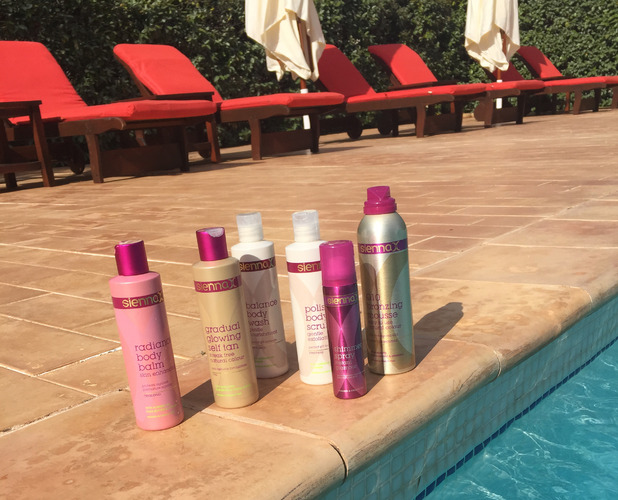 Sienna X tan products used on the Ibiza shoot 15th July 2015