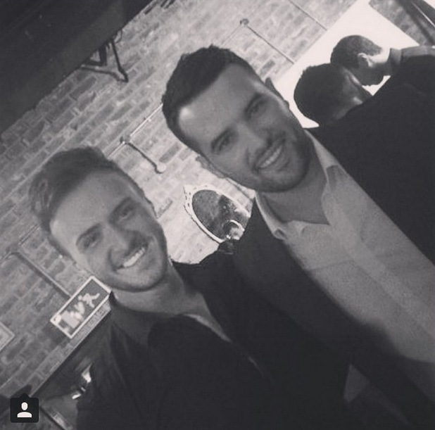 Kyle Christie and Ricky Rayment at In The Style summer party 16 July