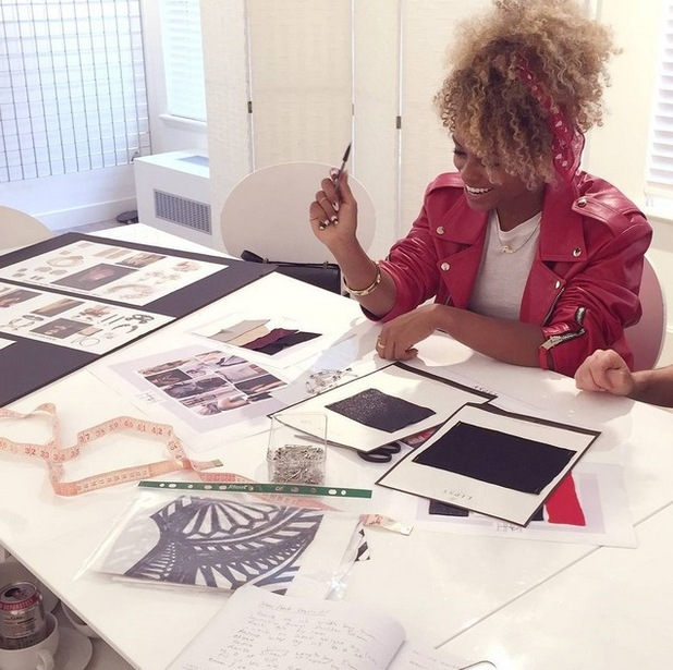 X Factor star Fleur East looks at samples as she reveals plans to launch debut fashion collection with Lipsy - 13 July.