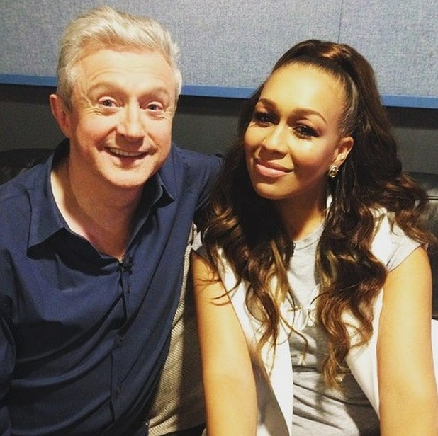 Rebecca Ferguson and Louis Walsh reunite backstage at taping of ITV gameshow Keep It In The Family - 12 July 2015.