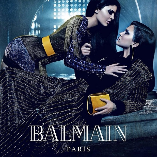 Kendall and Kylie Jenner for Balmain Paris, 17th July 2015