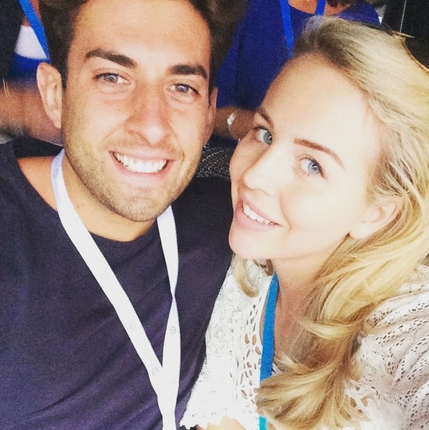 Lydia Bright and James Argent attend an Ed Sheeran concert at Wembley, 11th July 2015