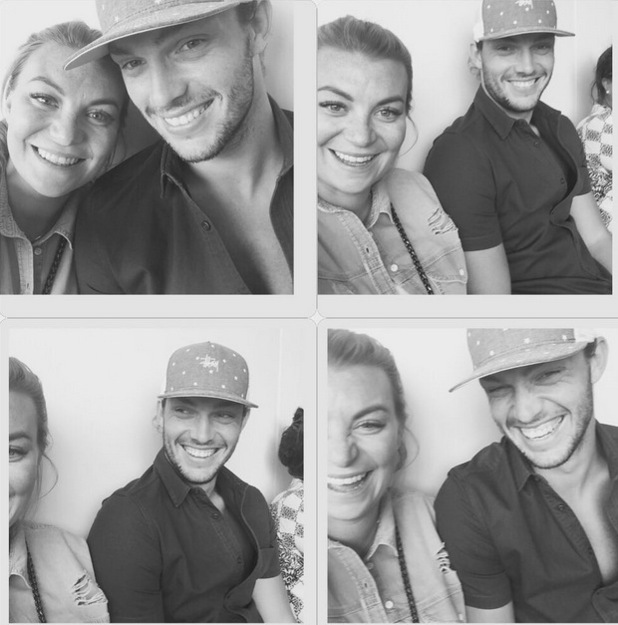 Billi Mucklow and Andy Carroll selfie collage on Instagram, 13th July 2015