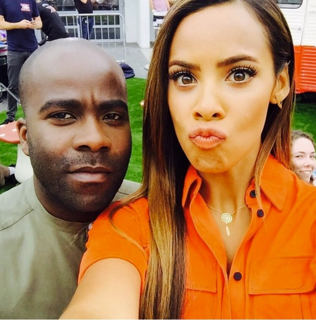 Rochelle Humes and Melvin Odoom film for The Xtra Factor, 16th July 2015