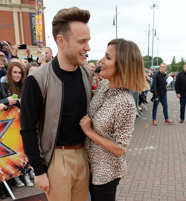 Caroline Flack and Olly Murs at X Factor's Manchester auditions 7 July