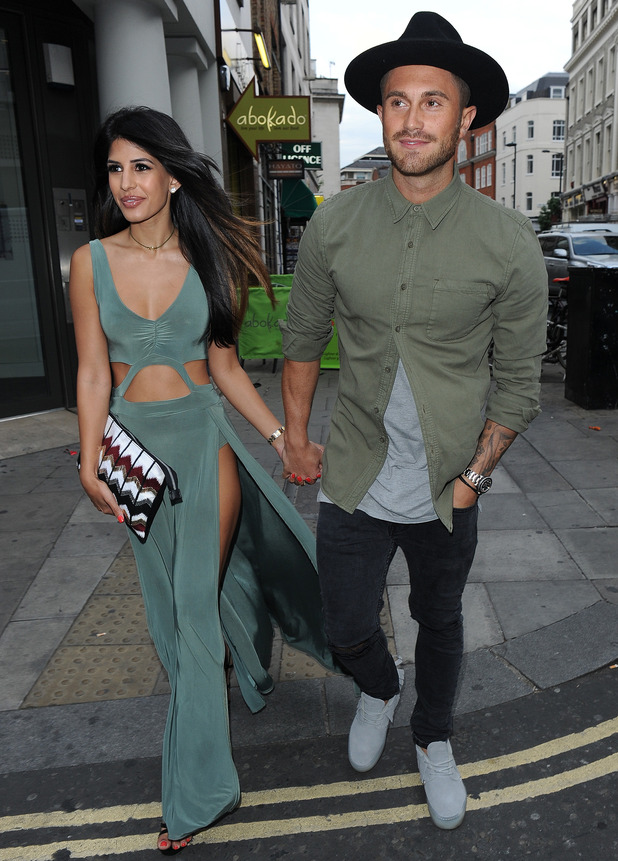 Jasmin Walia and Ross Worswick attend In The Style's summer party, Covent Garden, London 16 July