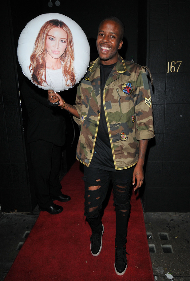 TOWIE's Vas J Morgan with Lauren Pope balloon at the In the Style party at The Drury Club - 17 July 2015.