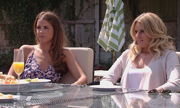 TOWIE episode to air 15 July 2015 Chloe Lewis' sister Abbey with Danielle Armstrong