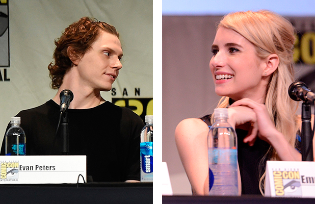 Emma Roberts and Evan Peters at Comic-Con International 2015 at the San Diego Convention Center on July 12, 2015 in San Diego, California.