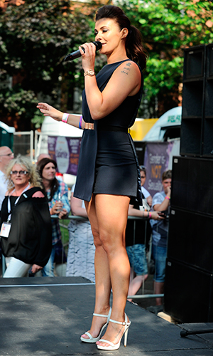 Kym Marsh performs with daughter Emilie Sparkle in the Park - the National Transgender Celebration