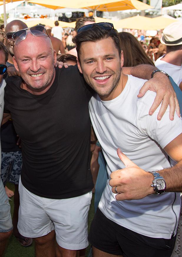 Mark Wright at Ocean Beach Ibiza in 2015