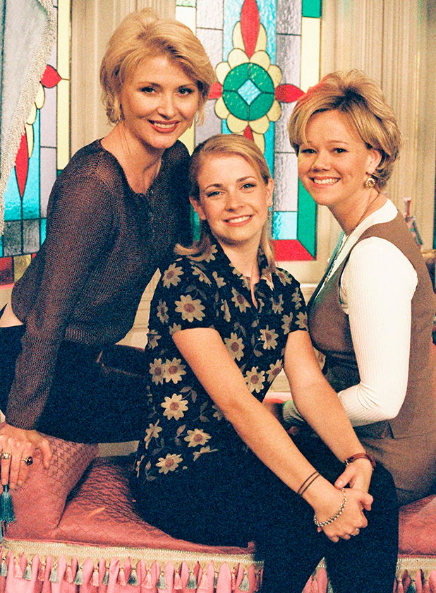 SABRINA, THE TEENAGE WITCH - 'Terrible Things' - Season One - 10/18/96, Sabrina (Melissa Joan Hart, center) ignored the warnings of her Aunts Zelda (Beth Broderick, left) and Hilda (Caroline Rhea) about meddling with the fate of others. , (Photo by ABC Photo Archives/ABC via Getty Images)