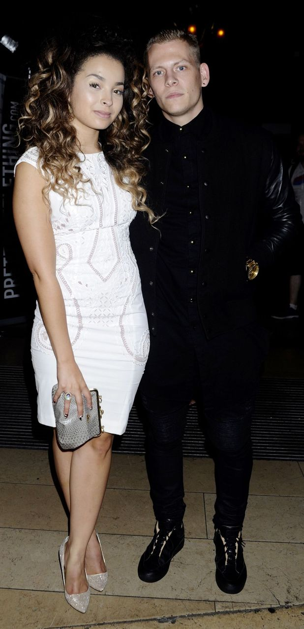 Ella Eyre and boyfriend Lewi Morgan (Rixton) at Little Mix Black Magic Party in London 21st July 2015
