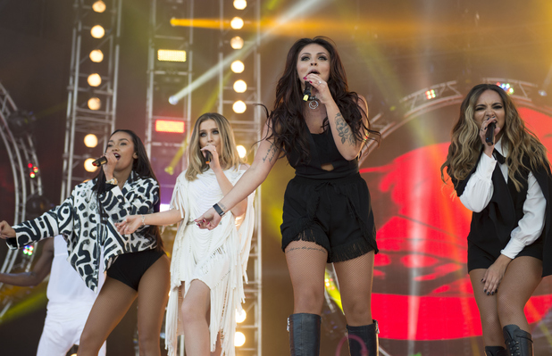 Little Mix seen performing at the MTV Crashes Plymouth Concert, 22nd July 2015