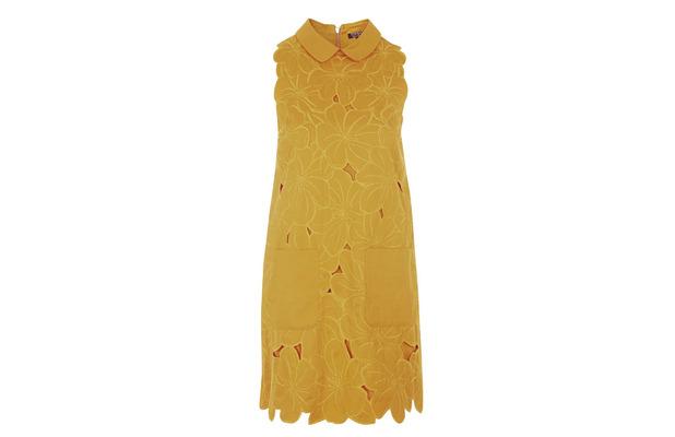 Orange floral embossed dress from Topshop £65, 23rd July 2015
