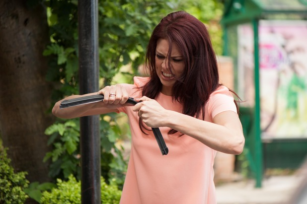 Hollyoaks, Porsche smashes up Lockie's car, Wed 22 Jul