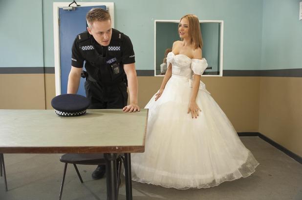 Hollyoaks, Cindy in a wedding dress, Thu 30 Jul
