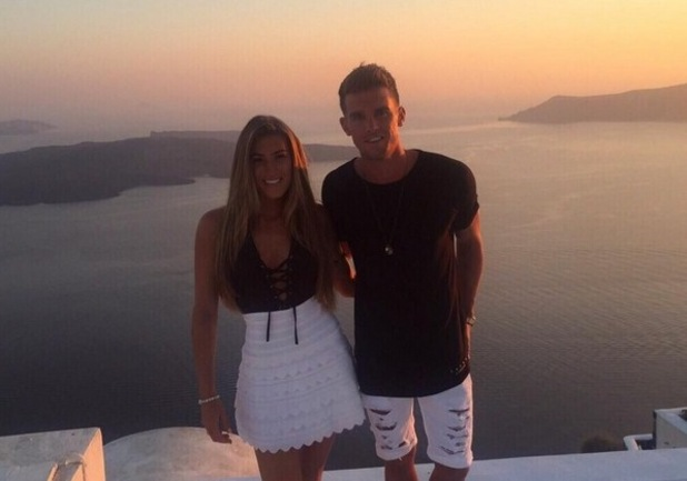 Lillie Lexie Gregg and Gary Beadle on their last night in Santorini 23 July