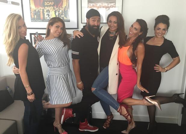Life On Marbs cast - Bally Singh, Natalie Richardson, Cassie Rowan, Danni Levy, Jordan Sargeant, Felicity Faye Kidd - 15 July 2015.