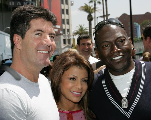 Simon, Paula and Randy at the award ceremony for Ryan Seacrest's star on the Hollywood Walk of Fame - 20 April 2005.
