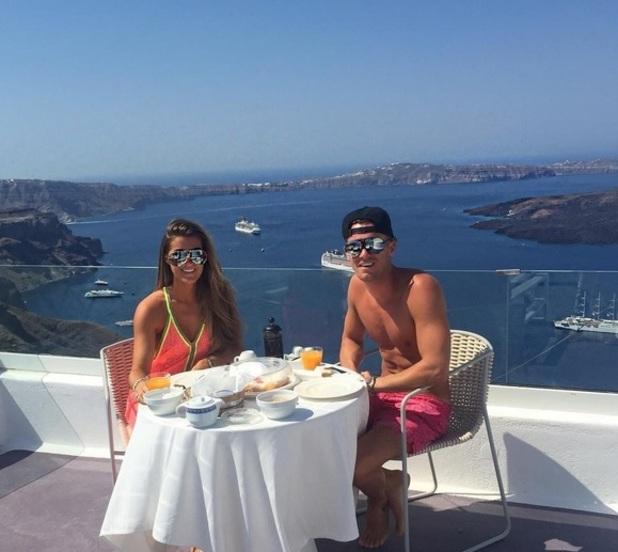Gary Beadle and Lillie Lexie Gregg in Santorini 22 July