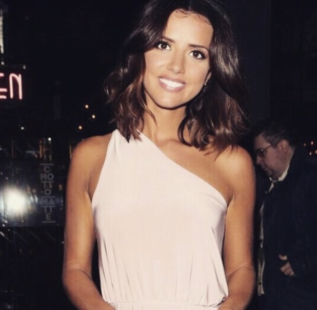 Lucy Mecklenburgh wears her own Pretty Little Thing dress, 23 July 2015