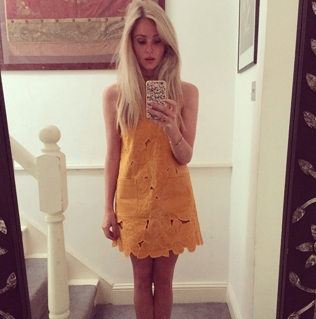 Diana Vickers Instagrams her Topshop Dress, 23rd July 2015