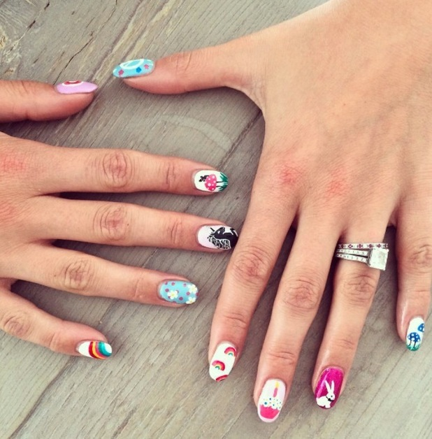 Millie Mackintosh posts picture of her manicure on Instagram 23rd July 2015