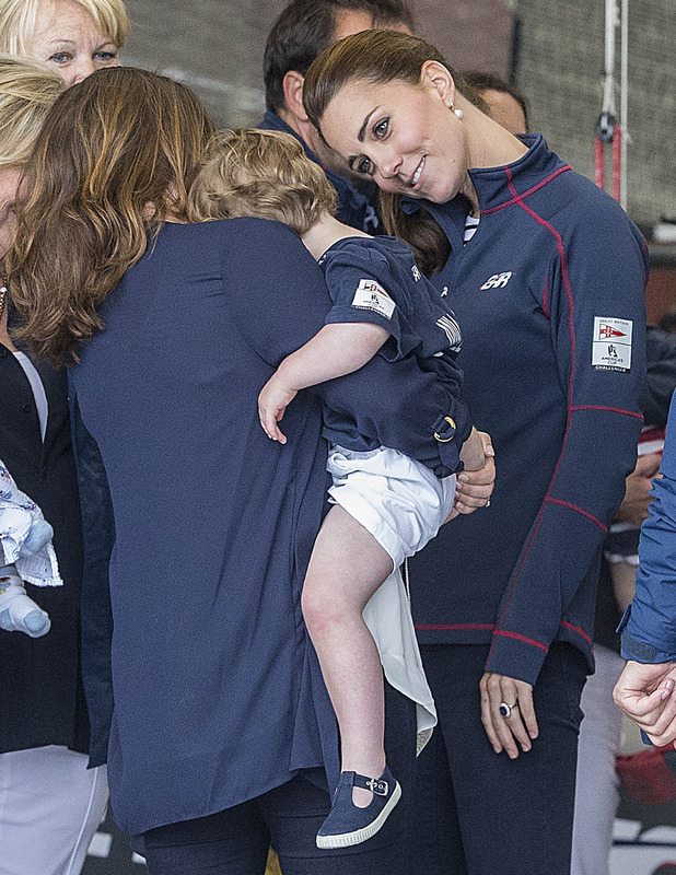 The Duke and Duchess of Cambridge visit the home of Land Rover BAR America's Cup team in Portsmouth, 26 July 2015