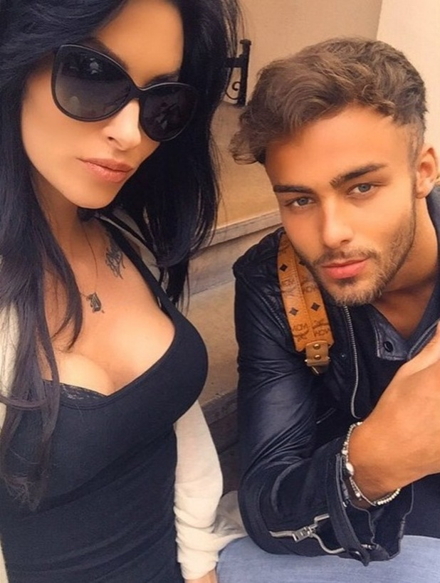 CBB star Jasmine Lennard with Big Brother star Cristian MJC - 20 July 2015.