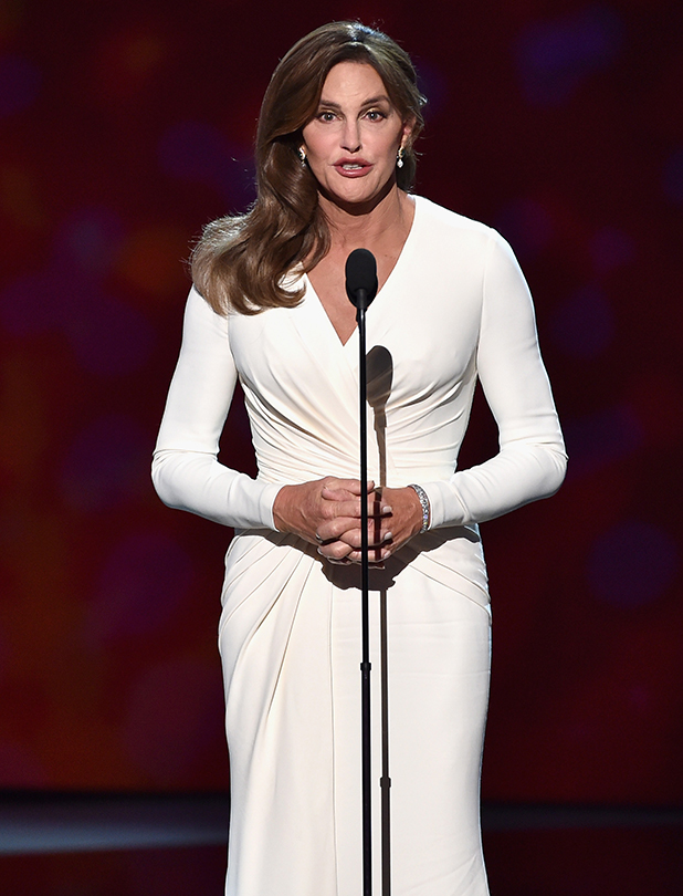 Caitlyn Jenner accepts the Arthur Ashe Courage Award onstage during The 2015 ESPYS at Microsoft Theater on July 15, 2015 in Los Angeles, California. (Photo by Kevin Winter/Getty Images)