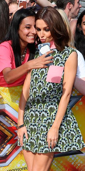 The X Factor' TV Show Auditions, London, Britain - 21 Jul 2015 Cheryl Fernandez-Versini waving