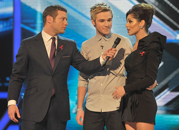 Dermot O'Leary, Lloyd Daniels, Cheryl Cole. 'The X Factor' TV Programme Results Show, London, Britain - - 29 Nov 2009