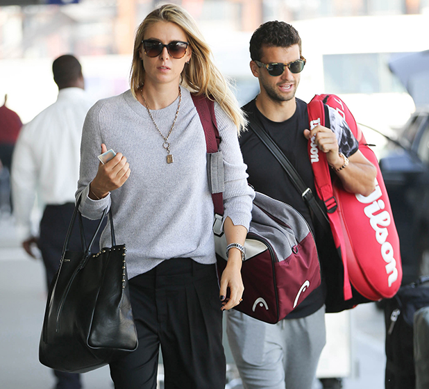Maria Sharapova and Grigor Dimitrov seen at LAX on March 20, 2015 in Los Angeles, California. (Photo by GVK/Bauer-Griffin/GC Images)