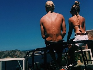 Proudlock and his girlfriend Emma Connolly on a jeep trip in Ibiza Thomson Scene June 2015