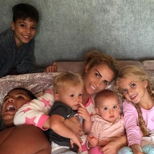 Katie Price with her five children 26 July