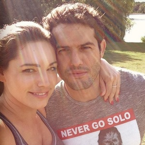 Kelly Brook and Jeremy Parisi after workout 20 July