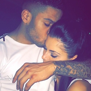 Luis Morrison and Cally Jane Beech share selfie 27 July