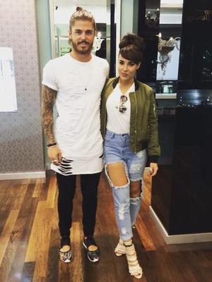 Stephanie Davis and Sam Reece, July 2015