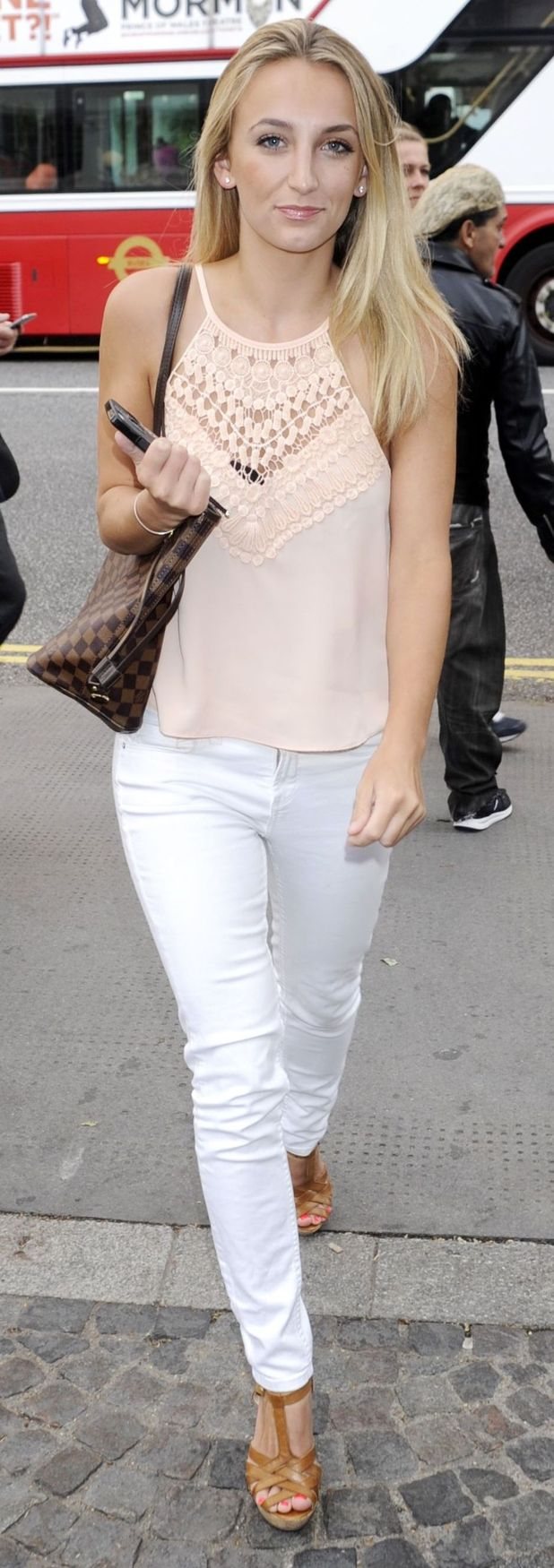Tiffany Watson out and about in Chelsea, London on her way to the Bluebird restaurant and bar 29th July 2015