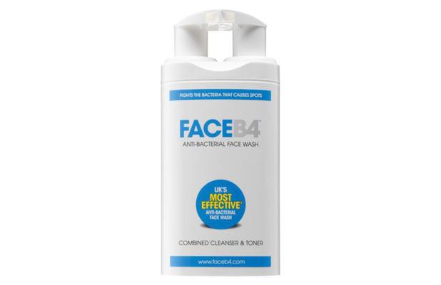 FaceB4 Antibacterial Face Wash, £14.95 29th July 2015