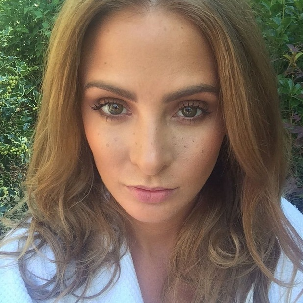 Millie Mackintosh shows a behind the scenes snap of her makeup, 31st August 2015