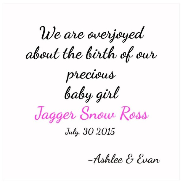 Evan Ross confirms birth of his daughter with Ashlee Simpson, 31 July 2015