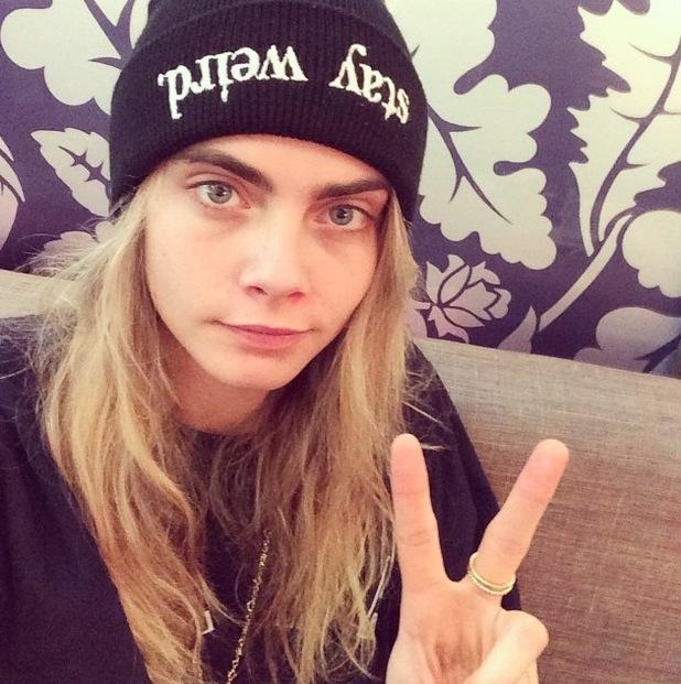 Cara Delevingne posts no make-up selfie to Instagram 28th July 2015