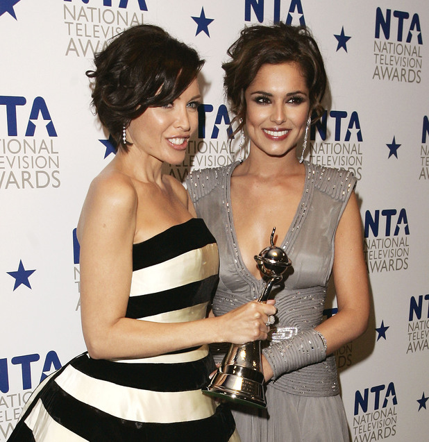 Dannii Minogue and Cheryl Cole at the National Television Awards held at the O2 Arena - January 2010.