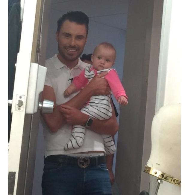 Rylan Clark and Kimberly Wyatt's baby daughter, Willow Jane at ITV Studios, 31st July 2015