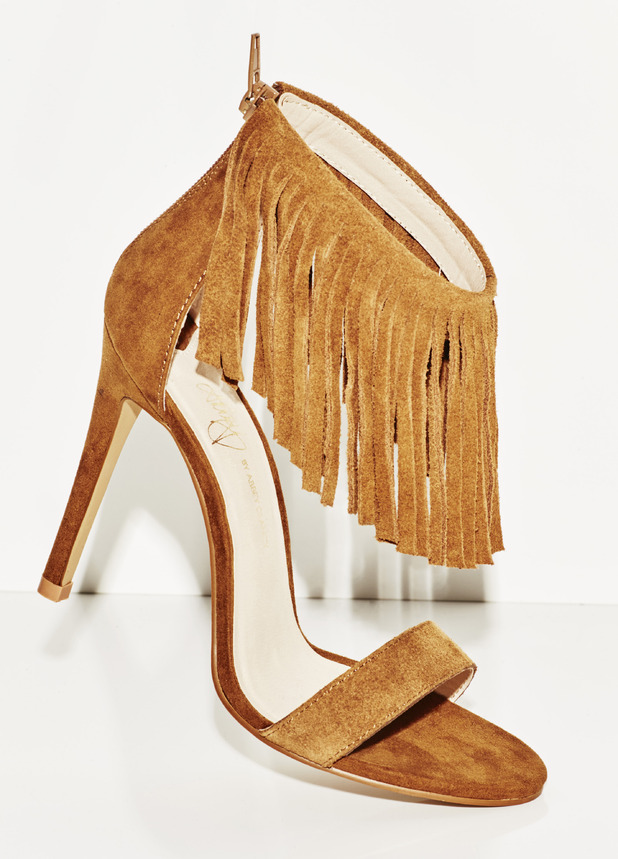 Abbey Clancy Fringed shoes for Matalan, £30 29th July 2015