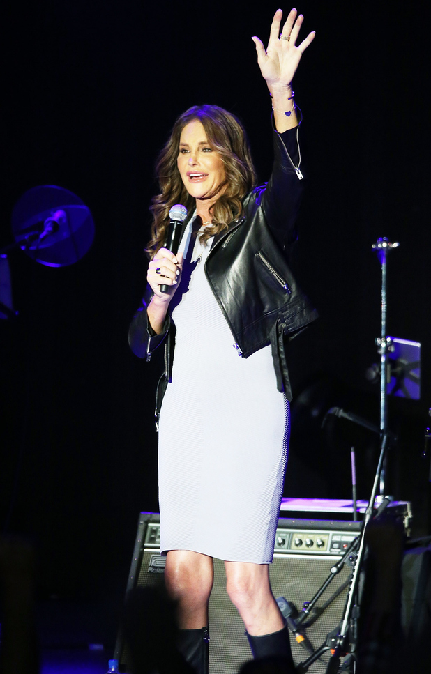 Caitlyn Jenner introduces Culture Club onstage at The Greek Theatre on July 24, 2015 in Los Angeles, California.