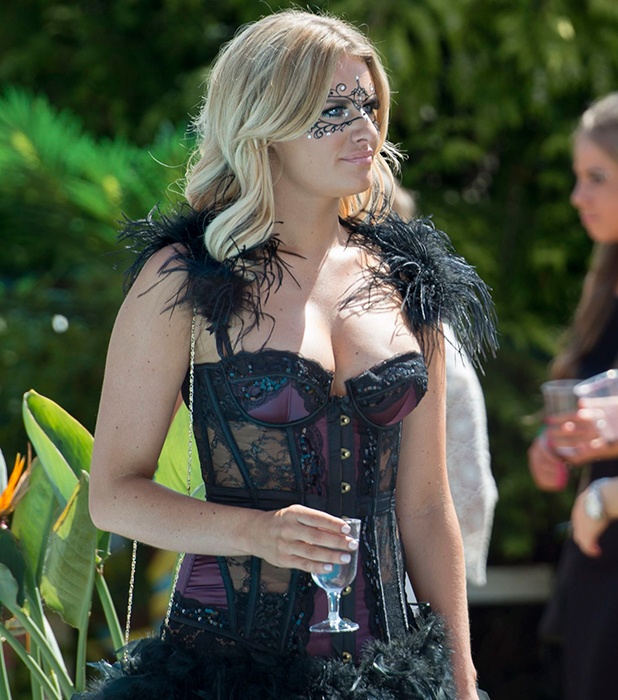 The Only Way is Essex' cast filming, Britain - 19 Jul 2015 Danielle Armstrong