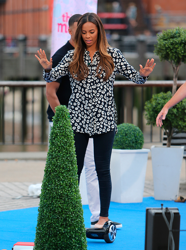 Rochelle Humes filming on the Southbank 31 July 2015